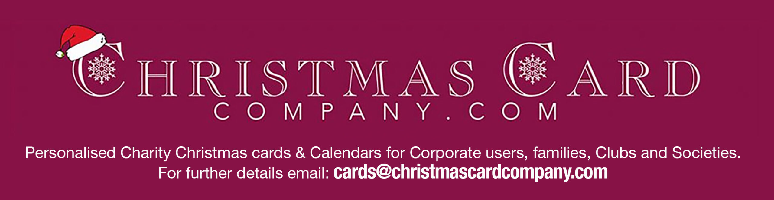 Personalised Charity Christmas Cards